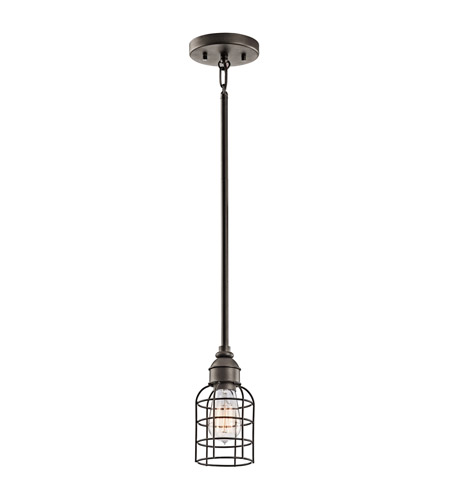 Kichler Lighting Signature 1 Light Mini Pendant in Olde Bronze 42308OZ