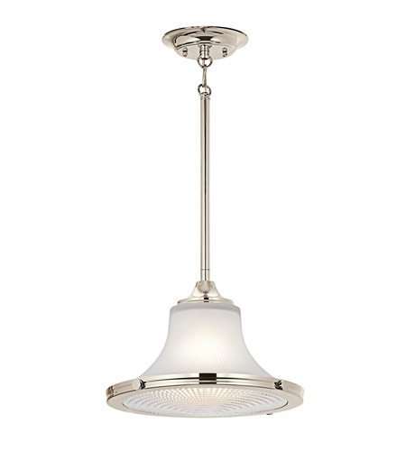 Kichler Lighting Searcy Street 1 Light Pendant in Polished Nickel 42323PN