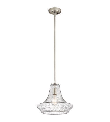 Kichler Everly 1 Light Pendant in Brushed Nickel 42328NICS