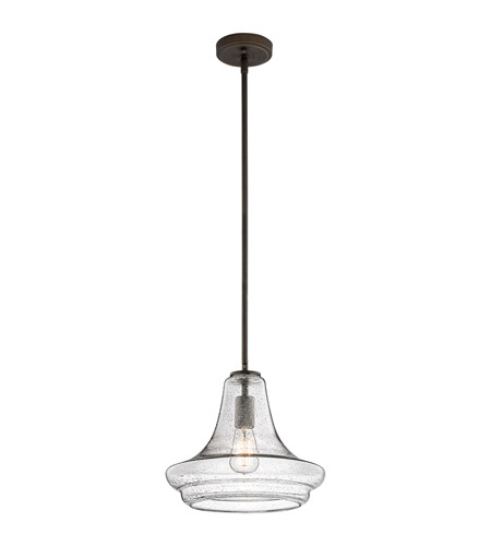 Kichler Everly 1 Light Pendant in Olde Bronze 42328OZCS photo