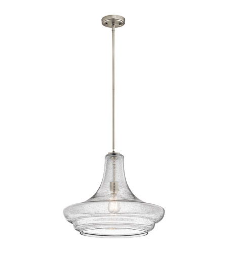 Kichler Everly 1 Light Pendant in Brushed Nickel 42329NICS
