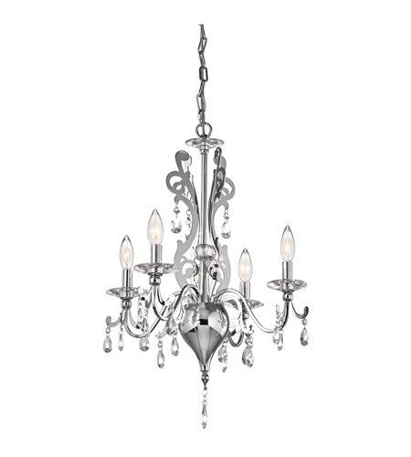 Kichler 42338CH Rizzo 4 Light 18 inch Chrome Mini Chandelier Ceiling Light photo