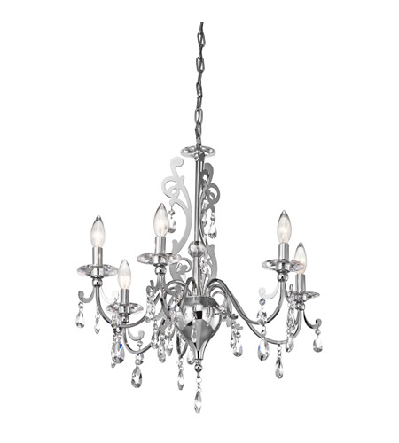 Kichler Lighting Rizzo 6 Light Chandelier in Chrome 42339CH photo
