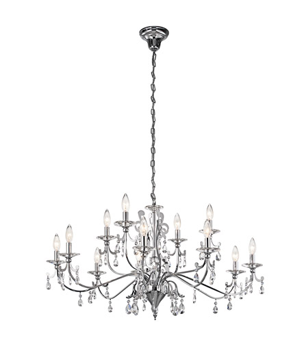Kichler Lighting Rizzo 12 Light Chandelier in Chrome 42340CH photo