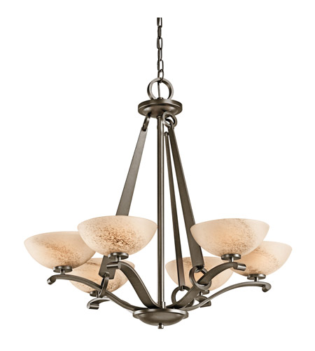 Kichler Lighting Garland 6 Light Chandelier in Shadow Bronze 42355SWZ photo