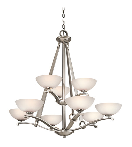 Kichler Lighting Garland 9 Light Chandelier in Antique Pewter 42356AP photo