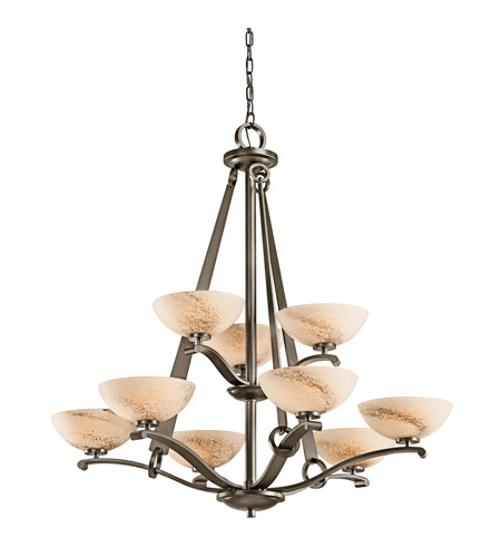 Kichler Lighting Garland 9 Light Chandelier in Shadow Bronze 42356SWZ