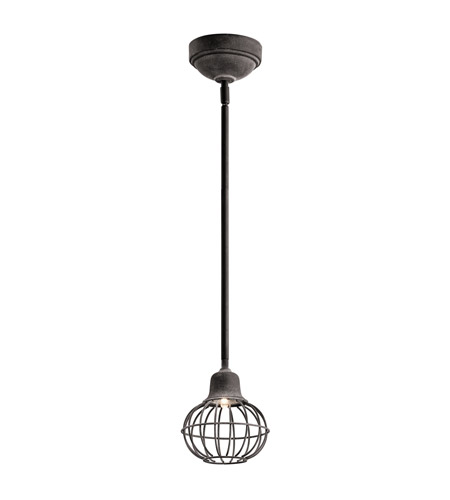 Kichler Signature LED Mini Pendant in Weathered Zinc 42359WZC