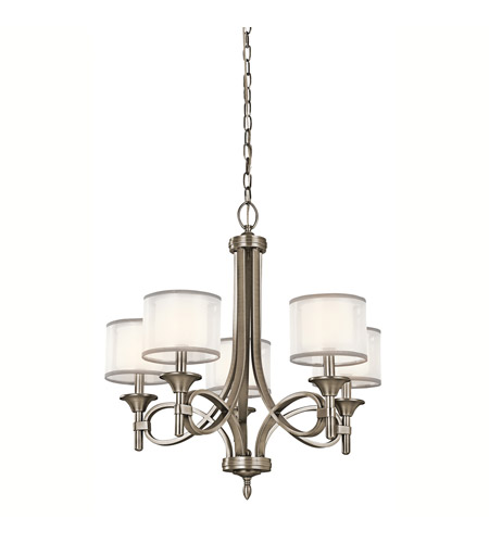 Kichler 42381AP Lacey 5 Light 25 inch Antique Pewter Chandelier Ceiling  Light - Kichler 42381AP Lacey 5 Light 25 Inch Antique Pewter Chandelier