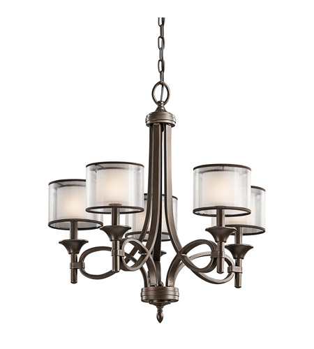 Kichler Lighting Lacey 5 Light Chandelier in Mission Bronze 42381MIZ photo
