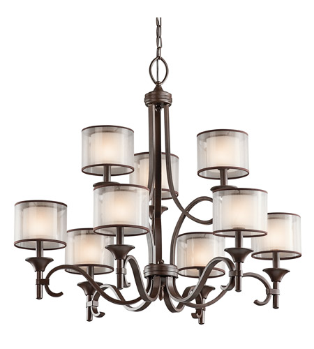 Kichler Lighting Lacey 9 Light Chandelier in Mission Bronze 42382MIZ