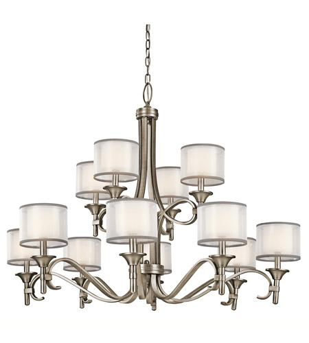 Kichler Lighting Lacey 12 Light Chandelier in Antique Pewter 42383AP photo