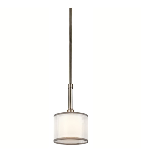 Kichler 42384AP Lacey 1 Light 6 inch Antique Pewter Mini Pendant Ceiling Light