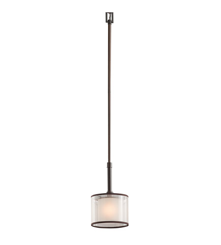 Kichler Lighting Lacey 1 Light Mini Pendant in Mission Bronze 42384MIZ