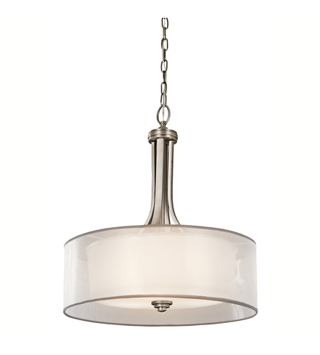 Kichler 42385AP Lacey 4 Light 20 inch Antique Pewter Inverted Pendant Ceiling Light photo