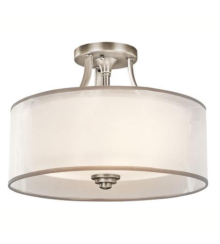 Kichler 42386ap Lacey 3 Light 15 Inch Antique Pewter Semi Flush Ceiling