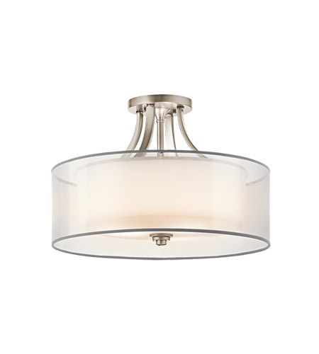 Kichler Lighting Lacey 4 Light Semi-Flush in Antique Pewter 42387AP