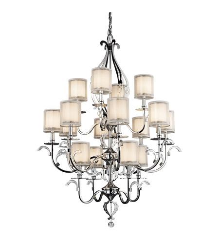 Kichler lighting jardine 16 light foyer chandelier in chrome 42392ch aloadofball Images