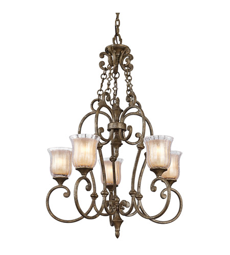 Kichler Lighting Veroia 5 Light Chandelier in Burnished Granite 42408BGN