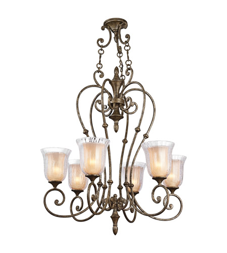 Kichler Lighting Veroia 6 Light Chandelier in Burnished Granite 42409BGN photo