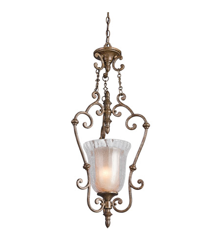 Kichler Lighting Veroia 1 Light Foyer Chain Hung in Burnished Granite 42414BGN photo