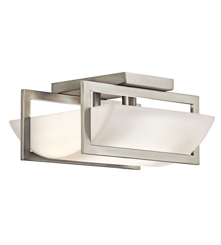 Kichler Lighting Crescent View 2 Light Semi-Flush in Brushed Nickel 42419NI