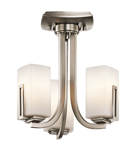 Kichler Lighting Leeds 3 Light Convertible in Antique Pewter 42424AP photo