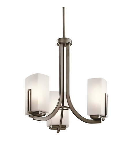 Kichler Lighting Leeds 3 Light Mini Chandelier in Shadow Bronze 42425SWZ