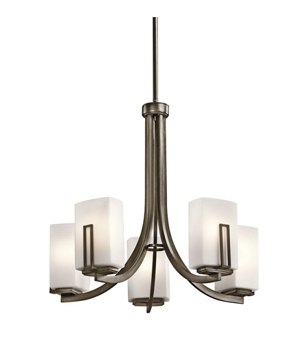 Kichler Lighting Leeds 5 Light Chandelier in Shadow Bronze 42426SWZ