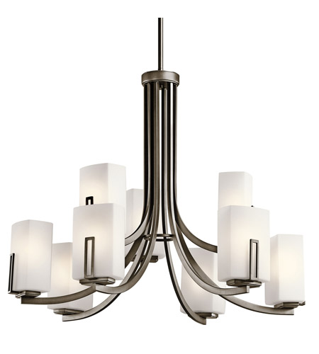 Kichler Lighting Leeds 9 Light Chandelier in Shadow Bronze 42428SWZ