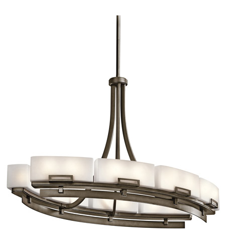 Kichler Lighting Leeds 12 Light Chandelier in Shadow Bronze 42431SWZ