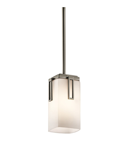 Kichler Lighting Leeds 1 Light Mini Pendant in Antique Pewter 42432AP