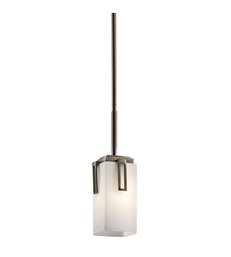 Kichler Lighting Leeds 1 Light Mini Pendant in Shadow Bronze 42432SWZ