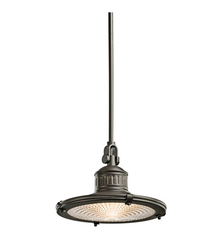 Kichler 42437OZ Sayre 1 Light 12 inch Olde Bronze Pendant Ceiling Light photo
