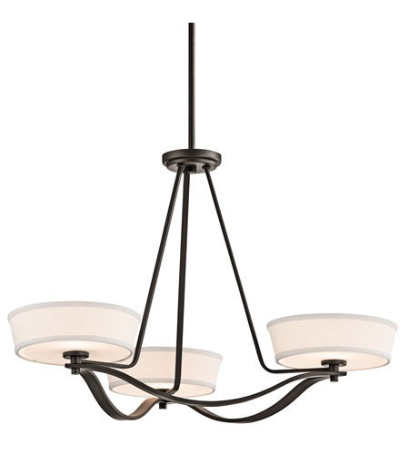 Kichler Lighting Glissade 3 Light Chandelier in Olde Bronze 42443OZ photo