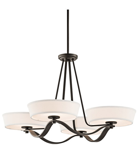 Kichler Lighting Glissade 4 Light Chandelier in Olde Bronze 42450OZ