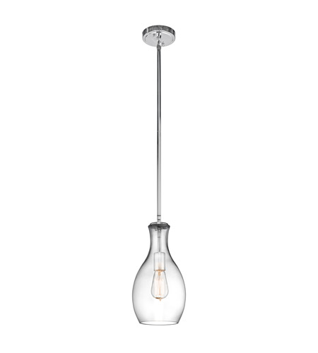 Kichler 42456chclr Everly 1 Light 7 Inch Chrome Pendant Ceiling