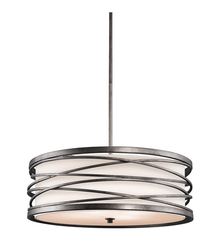 Kichler Lighting Krasi 4 Light Round Linear Chandelier in Warm Bronze 42465WMZ photo
