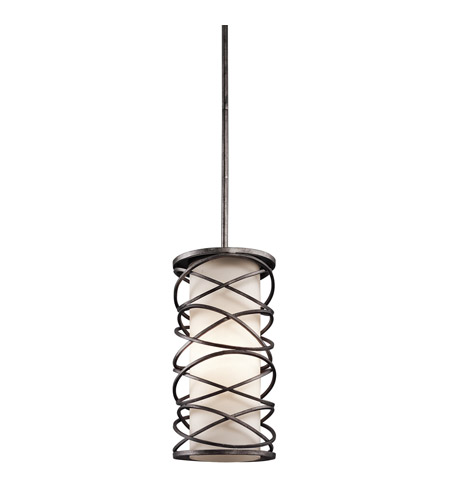 Kichler 42466WMZ Krasi 1 Light 8 inch Warm Bronze Pendant Ceiling Light photo