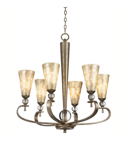 Kichler Lighting Roma Notte 6 Light Chandelier in Sunrise Mist 42471SRM photo