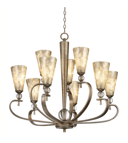 Kichler Lighting Roma Notte 9 Light Chandelier in Sunrise Mist 42472SRM photo