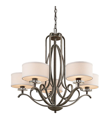 Kichler 42476OZ Leighton 5 Light 31 inch Olde Bronze Chandelier Ceiling Light photo