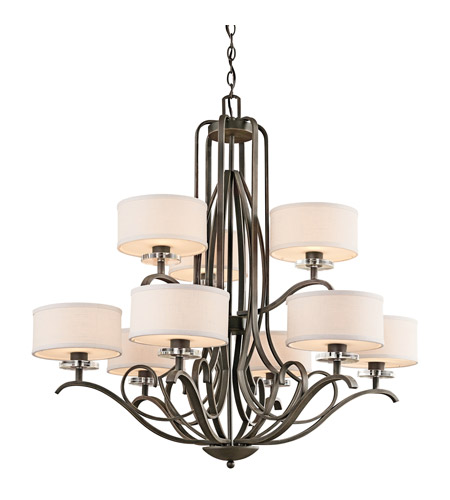 Kichler 42478OZ Leighton 9 Light 36 inch Olde Bronze Chandelier Ceiling Light photo