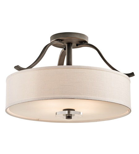 Kichler 42486OZ Leighton 4 Light 23 inch Olde Bronze Semi-Flush Ceiling Light photo
