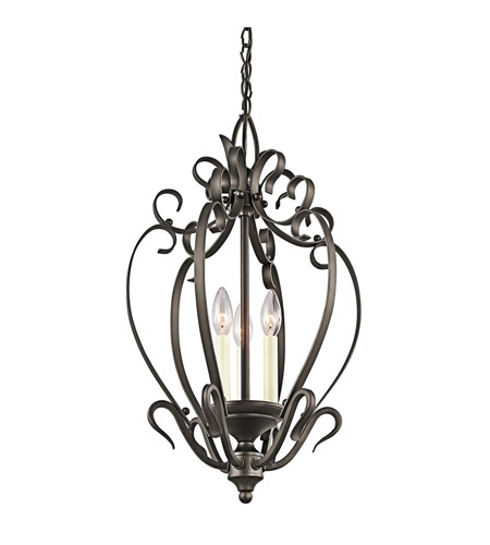 Kichler Lighting Signature 3 Light Foyer Chain Hung in Olde Bronze 42501OZ photo