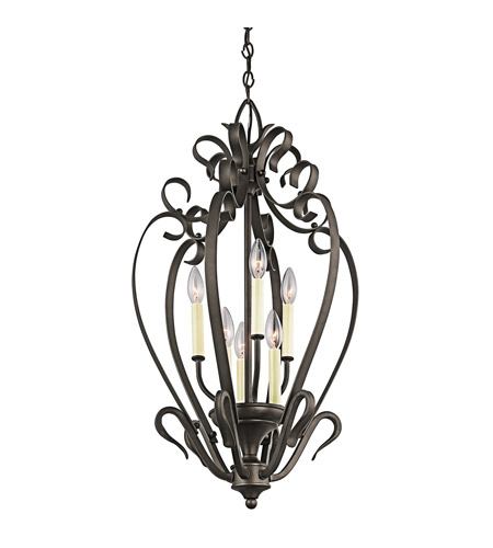Kichler Lighting Signature 6 Light Foyer Chain Hung in Olde Bronze 42502OZ photo