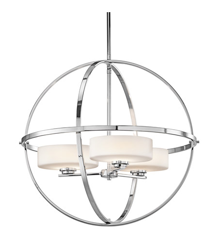 Kichler 42505CH Olsay 3 Light 23 inch Chrome Chandelier Ceiling Light photo