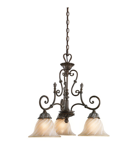 Kichler Lighting Sarabella 3 Light Chandelier in Legacy Bronze 42509LZ photo