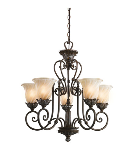 Kichler Lighting Sarabella 5 Light Chandelier in Legacy Bronze 42510LZ