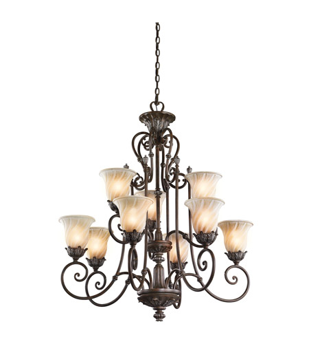 Kichler Lighting Sarabella 9 Light Chandelier in Legacy Bronze 42511LZ photo